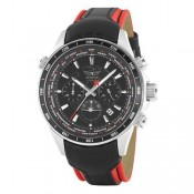 aviator world cities stainless steel chronograph watch
