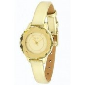 oasis ladies gold coloured dial watch