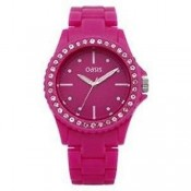 oasis ladies pink dial watch