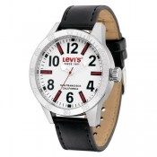 levi's mens white dial watch