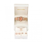 pierre cardin ladies rose gold coloured watch