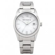 french connection ladies white dial watch