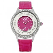 lipsy london ladies pink dial watch