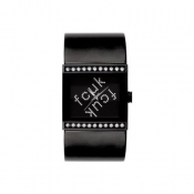 french connection ladies black dial watch
