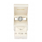 pierre cardin ladies white / silver coloured dial watch