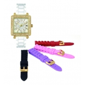 aviator ladies interchangeable strap designer watch