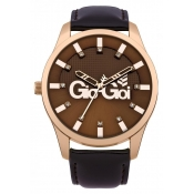 gio goi ladies brown dial watch