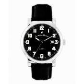 jacques du manoir men's black dial watch